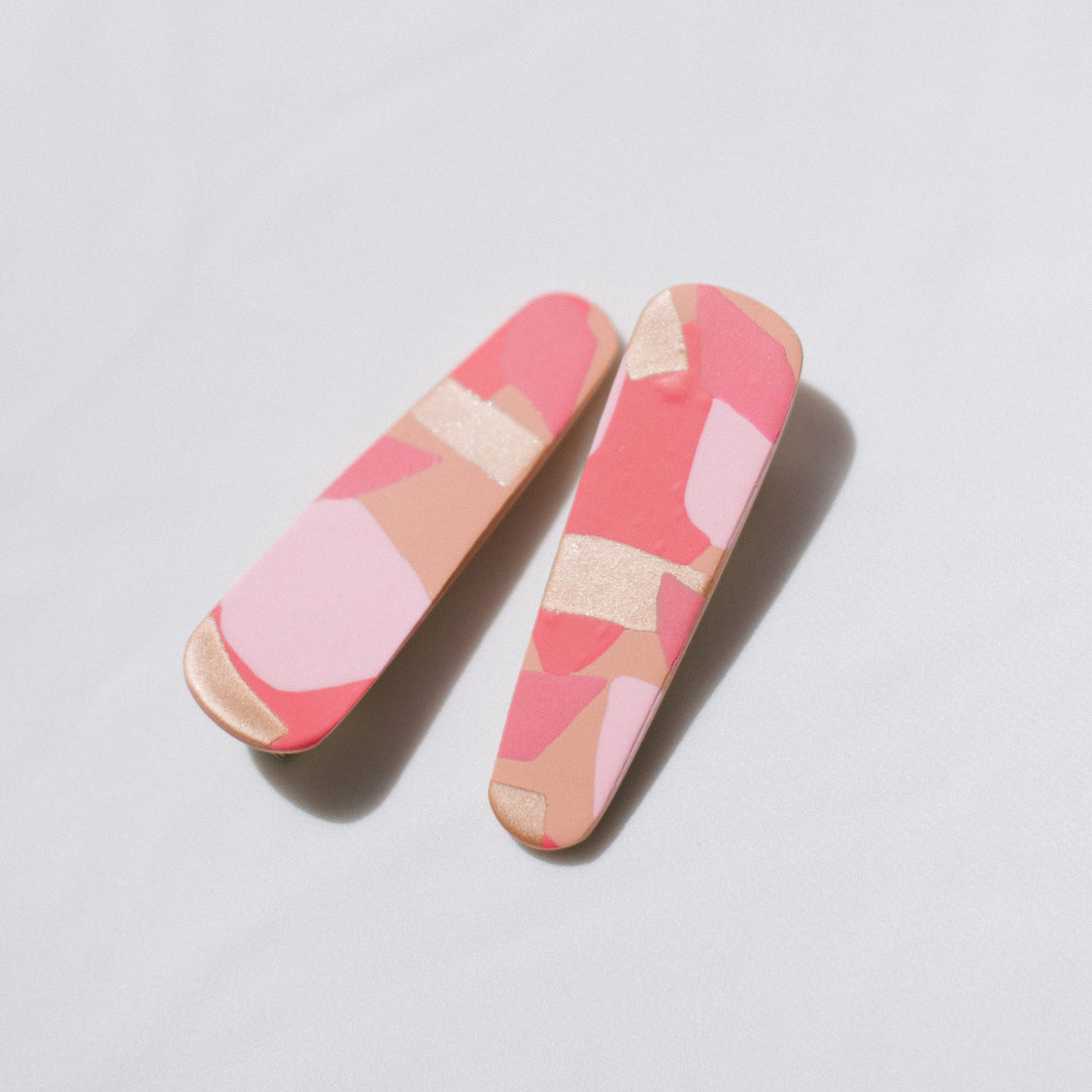 Hair Clips - Pretty in Pink