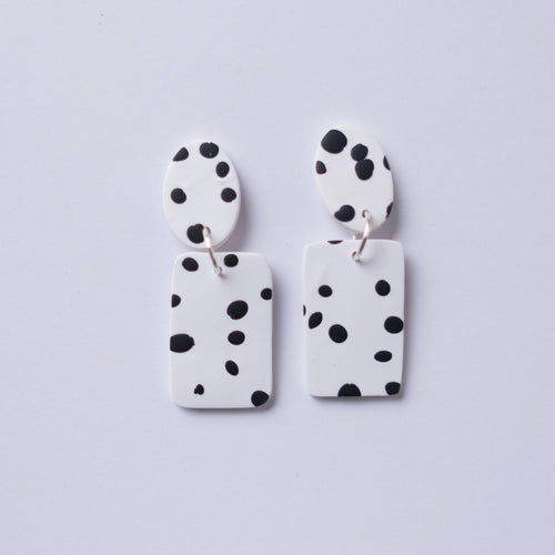 The Dalmatian - Small Rectangle Dangles