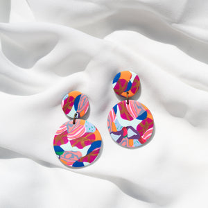 Petal Pop - Small Round Rooster Dangles