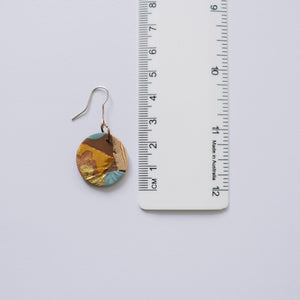 Earthy Foilage - Round Dangles Small (Hook)
