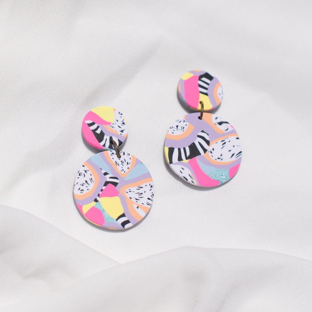 Pastel Cuties - Small Round Rooster Dangles