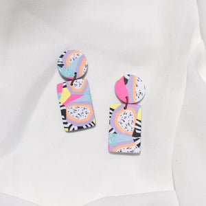 Pastel Cuties - Small Rectangle Dangles
