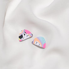 Load image into Gallery viewer, Pastel Cuties  - Small Moon Stud