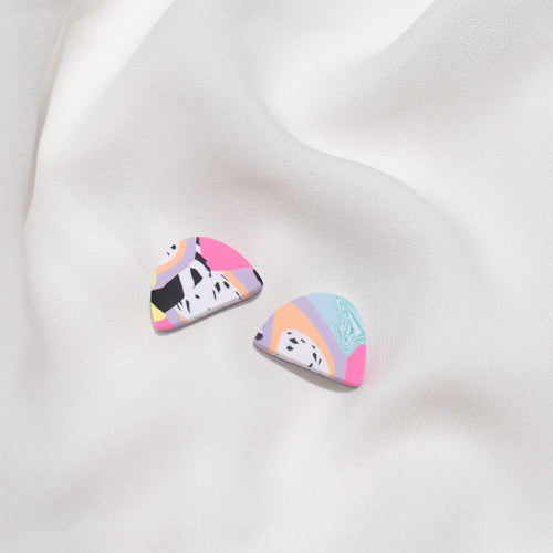 Pastel Cuties  - Small Moon Stud