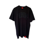 UNIVERSITY Puff-Print Tee (Triple Black)