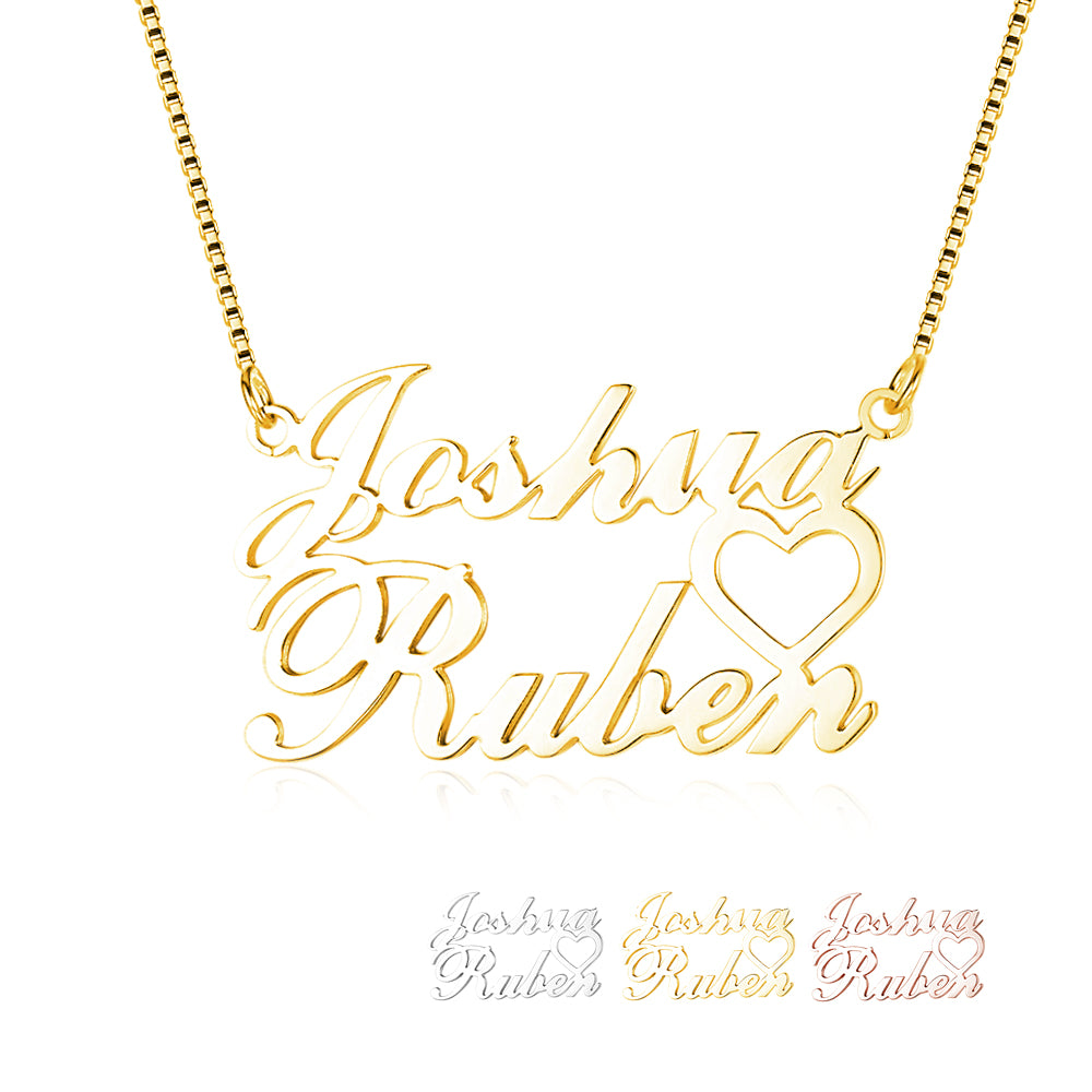 Standard Name Necklace with 2 Names