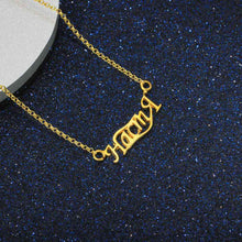 Load image into Gallery viewer, Sterling Gold Name Necklace