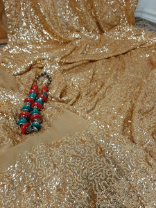Golden Color Saree
