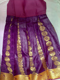 Traditional Dark Pink Pavada/Lehenga - Age 8-10
