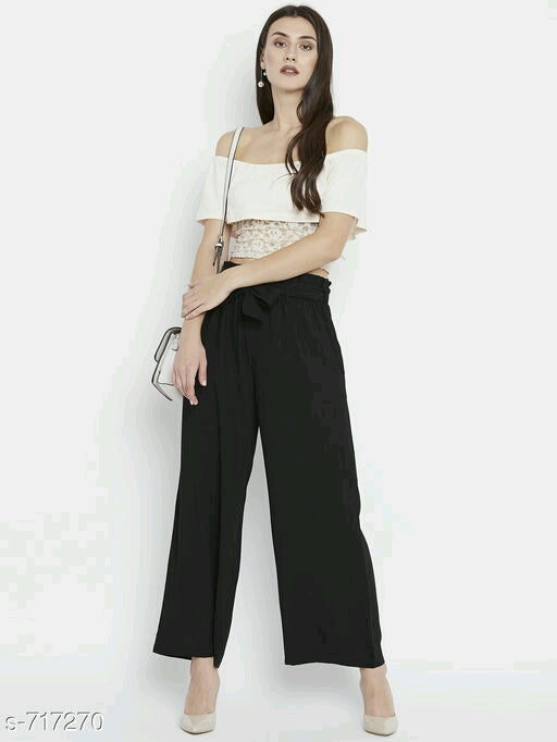 Black Trendy Women's Pant