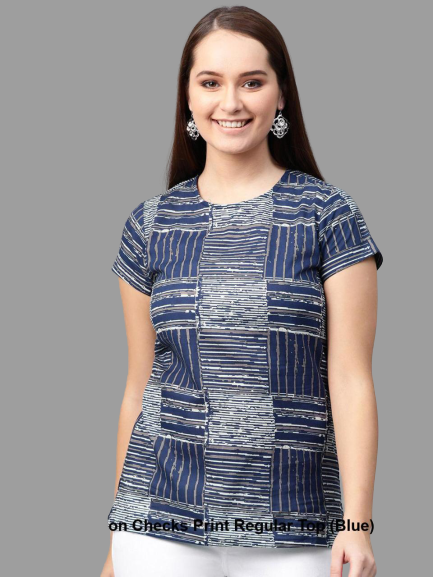 Blue Cambric Cotton Top
