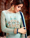 Lovely Blue Kurta Palazzo-Fully Stitched