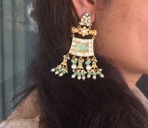 Signature Collections- Earing- Green Stones
