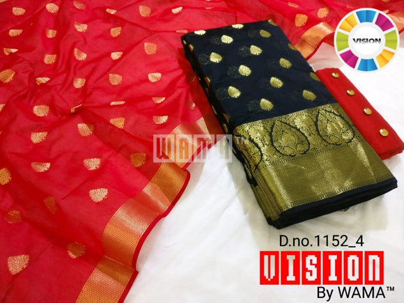 Black Banarasi with Red dupatta