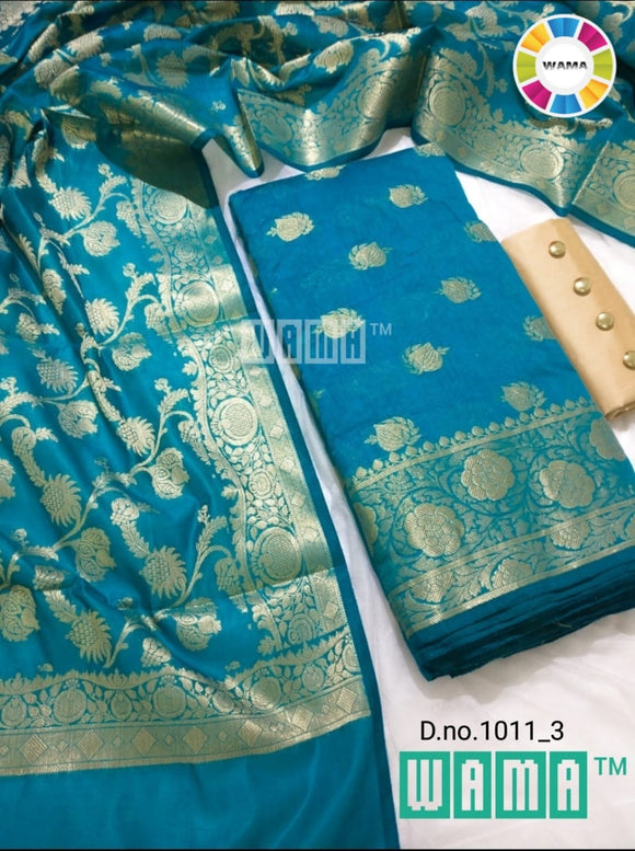 Sky Blue Banarasi Suit