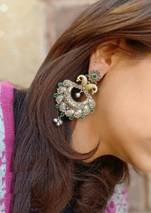 Artistic Collection:- Green Stone Earrings