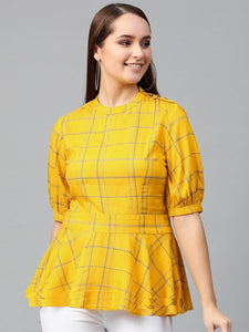RC Yellow Rayon Printed Top
