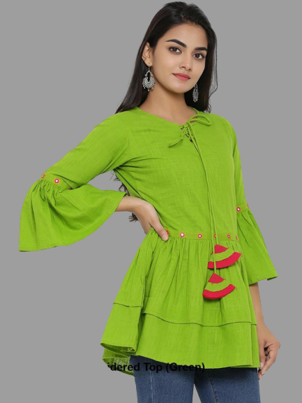 RC Embroidered Top- Green