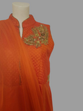 Orange Long Anarkali