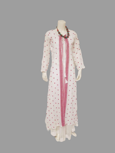 Elegant white Kurta with Dupatta