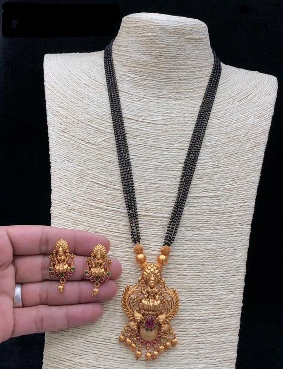 Traditional Collection-  Golden Necklace & Earings