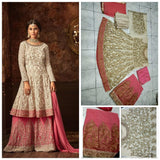 Georgette Sharara Dress with Heavy Embroidery and Stone work