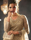 Gold Anarkali Suit