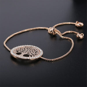 Tree of Life Disk Pendant Bracelet