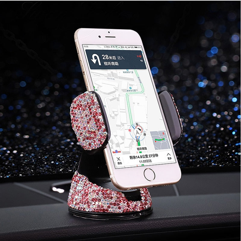 Crystal Car Phone Holder