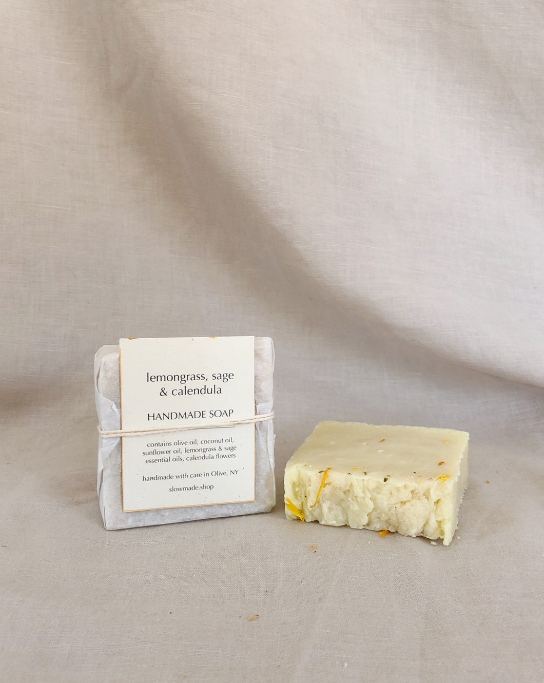 Lemongrass Sage Calendula Soap