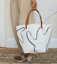Load image into Gallery viewer, Picnic Painted Tote Medium