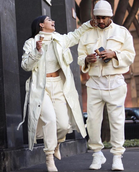 clean and classy couple streetwear outfit