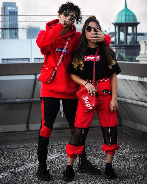 hype couple streetwear outfit