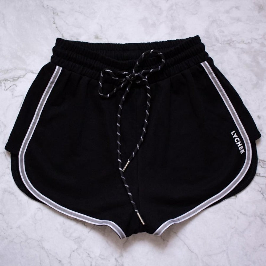 Bao Reflective Detail Logo Shorts Lychee the Label
