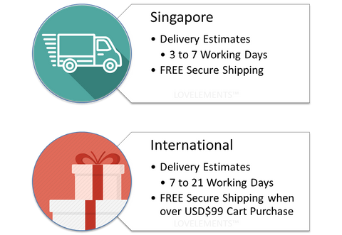 Singapore and international delivery fee and delivery estimates - LOVELEMENTS JEWELLERY