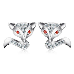 Earrings - Dazzling Cute Fox Earrings