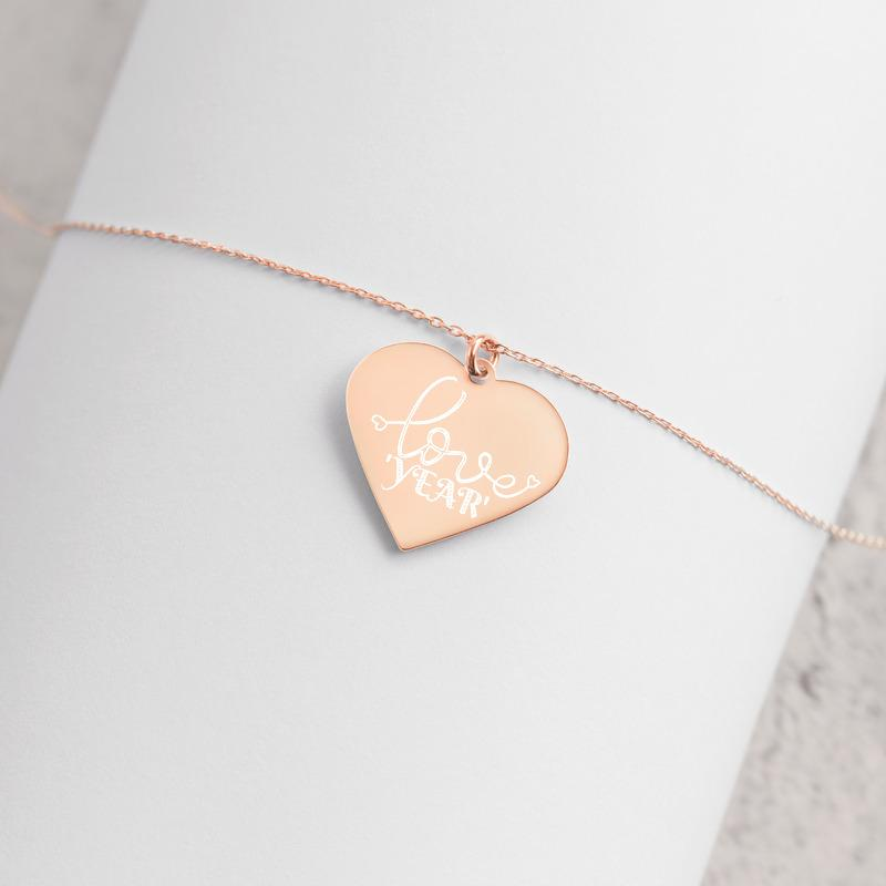 "Necklace - ""Love Year"" Personalized Gold/Silver Heart Necklace"