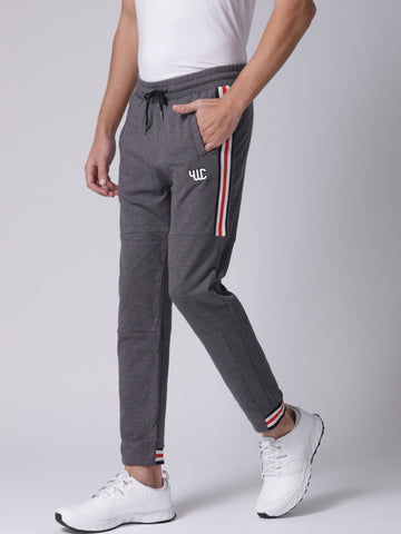 Men Grey Melange Track Pants