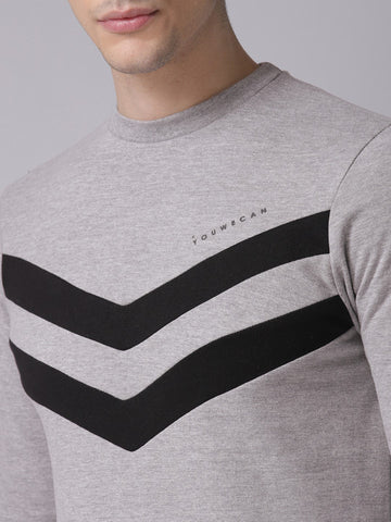 Men Grey Solid Sweatshirt