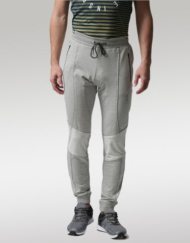 Men Grey Panelled Joggers