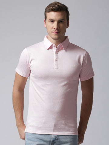 Men Pink Polo YMP-4011C T-shirt