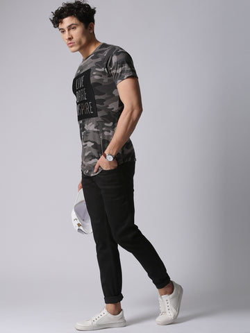 Men Black Slim Fit Mid-Rise Clean Look Stretchable Jeans