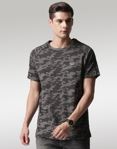 Men Grey Printed T-shirt