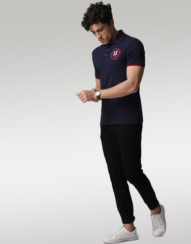 Men Navy Polo T-shirt