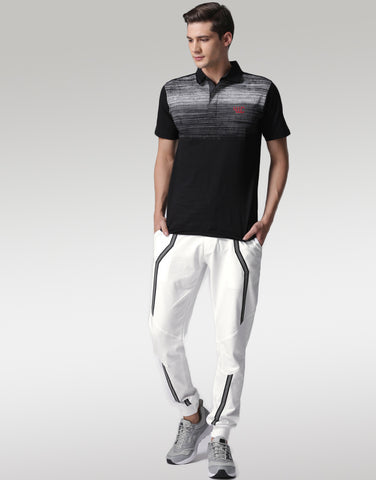Men White Joggers with Refelectors