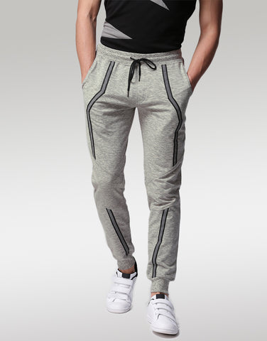 Men Grey Solid Joggers