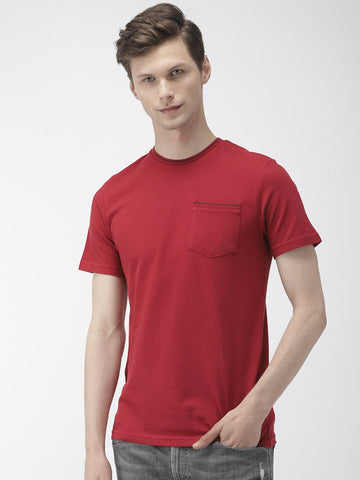 Maroon Solid T-Shirts