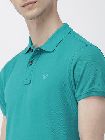Sea Green Solid Polo