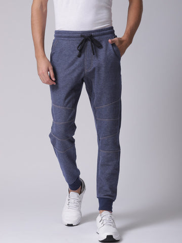Men Blue Solid Joggers
