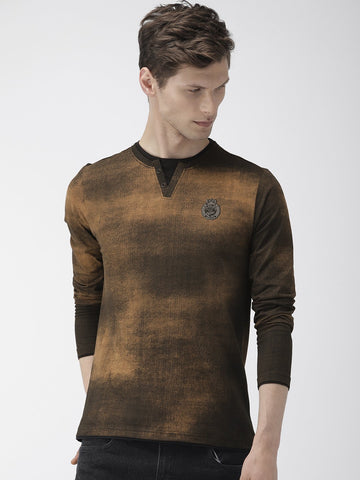 Brown All Over Print T-Shirts
